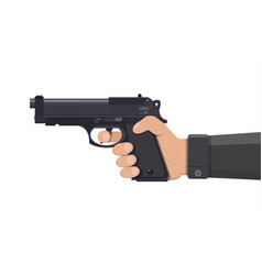 pistol gun automatic modern handgun in hand vector image vector image