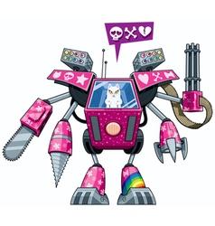 Robo-pussycat vector image