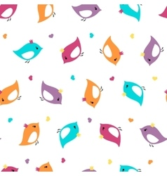 Seamless pattern with bright colors birds crown vector image