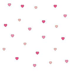 seamless polka dot pink hearts pattern vector image