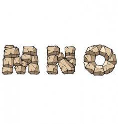 stone Alphabet mno vector image vector image