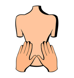 back massage icon icon cartoon vector image