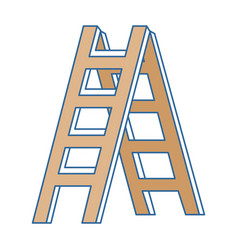 construction stair isolated icon vector image