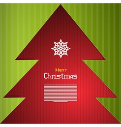 Red and Green Abstract Merry Christmas Background vector image vector image