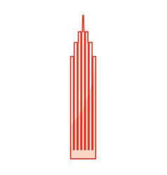 Red skyscraper cartoon vector