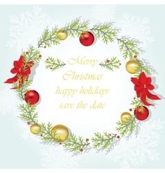Round Christmas wreath vector image