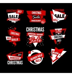 Sale tag banner vector image