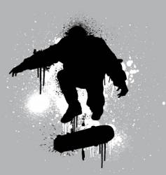 stencil skater vector image vector image