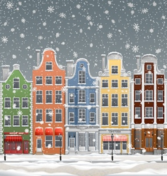Winter in Town vector image vector image