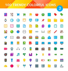 100 Universal Icons Set 2 vector image vector image
