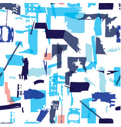Artisan seamless pattern with abstract shapes and vector