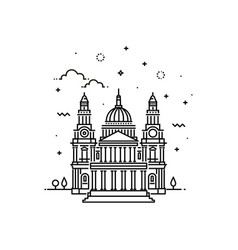 cathedral icon outline vector image vector image