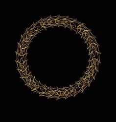 laurel ring vector image