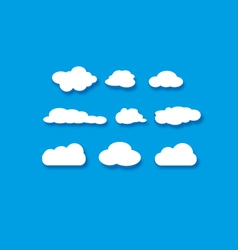 objects clouds set vector image