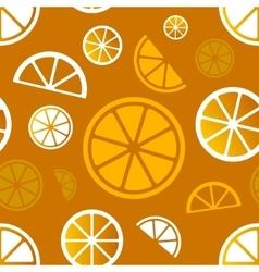 seamless citrus pattern Eps10 vector image