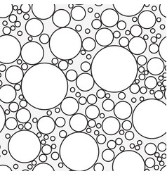 Seamless pattern with soap bubbles isolated on vector