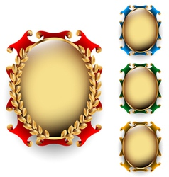Set of the oval labels vector image