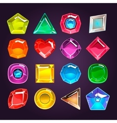 Cartoon colored stones with different shapes for vector image