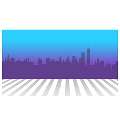 City skyline and zebra crossing in foreground vector image