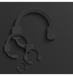 modern headphones light background vector image