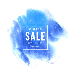 sale square banner over blue background vector image vector image