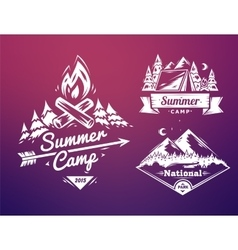 Summer camp and national park typography design vector image