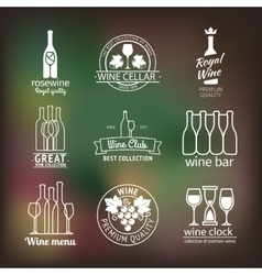 Wine club and restaurant labels set vector image
