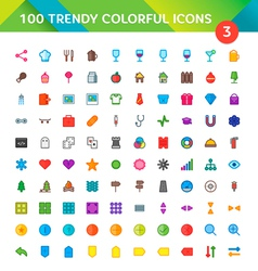 100 Universal Icons Set 3 vector
