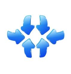 3d blue arrows vector image