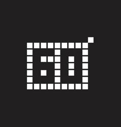 60 year anniversary pixel number template design vector