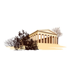 ancient greece temple vector image