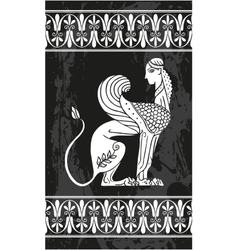 Ancient Greek Sphinx vector