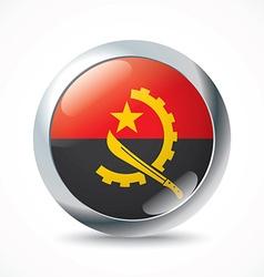 Angola flag button vector image