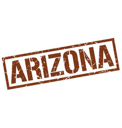 Arizona brown square stamp vector