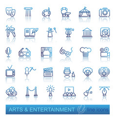 Arts and entertainment icon set vector