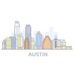 Austin cityscape texas - city panorama vector