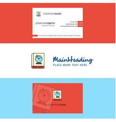 beautiful halloween book logo and business card vector image