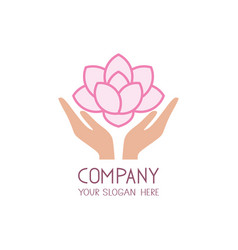 beauty care logo template spa salon icon vector image