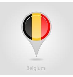 Belgium flag pin map icon vector