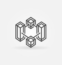 block chain crypto technology line icon vector image