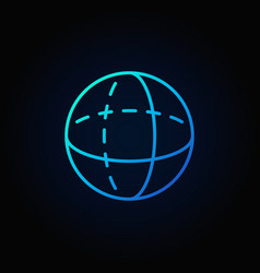 blue volume sphere outline icon vector image