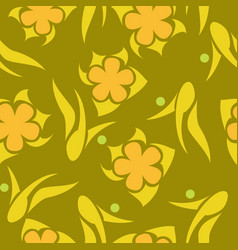 bright floral abstract pattern vector image