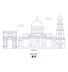 Chisinau city skyline vector