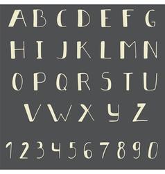 Comic cartoon font Hand drawn alphabet vector image