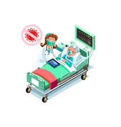 Coronavirus alert incection risk vector