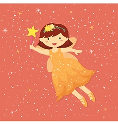 Cute Little Orange Fairy vector image