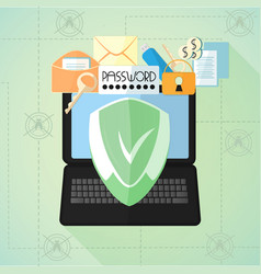 Data protection antivirus internet security vector