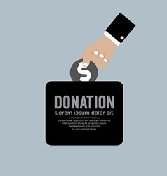 Donate Money To Charity Concept vector image
