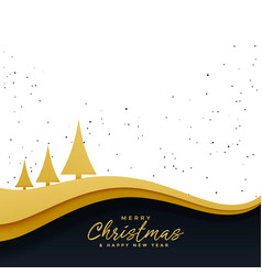 Elegant golden christmas tree beautiful background vector