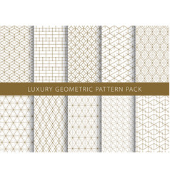 Geometric pattern pack vector